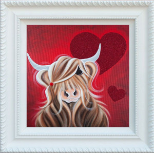 love love me moo - framed
