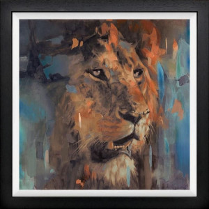 Panthera Leo - Black - Framed