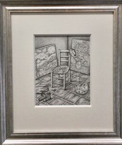 a gift for vincent - original - framed
