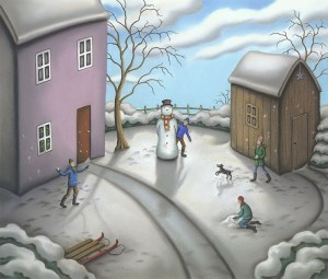 a snowmans story - canvas - board only