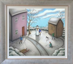 A Snowmans Story - Canvas - Framed