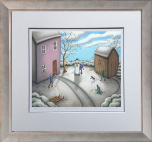 a snowmans story - on paper  - framed