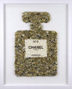 Extra Addiction No.5 - Gold - Original - White - Framed