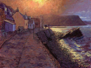 After The Storm, Crovie - Canvas - Black - Framed
