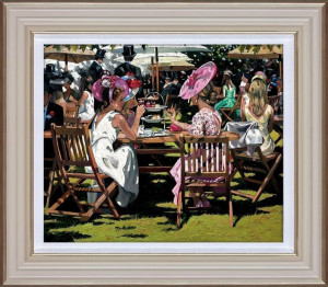 Afternoon Tea At Ascot - Cream - Framed