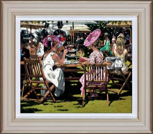 Afternoon Tea At Ascot - Black - Framed