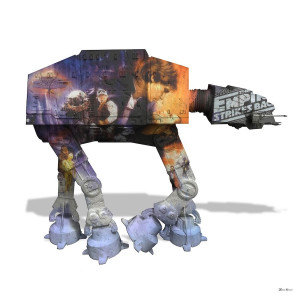 AT AT - White Background - Large - Mounted
