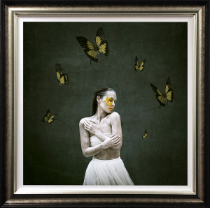 Attached - Deluxe Canvas - Bronze - Framed
