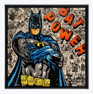 Bat Power - Original  - Framed