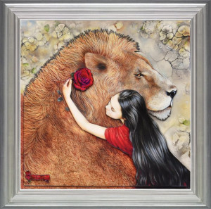 beauty and the beast - framed