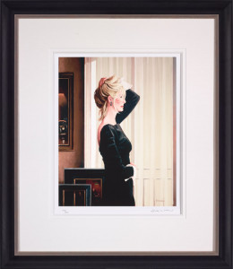 black on blonde  - framed