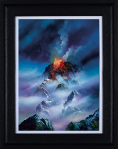 Blazing Clouds - Black - Framed