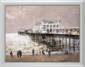Bright On The Sea - White - Framed