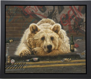 brown and out - super deluxe  - framed box canvas