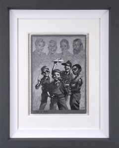The B-Team - Sketch  - Framed