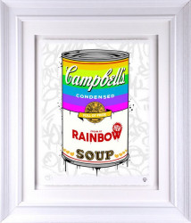 Campbell's Rainbow Soup - Artist Proof White Framed