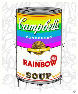 Campbell's Rainbow Soup - Mounted