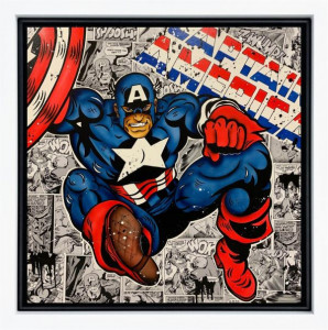 Captain America - Original  - Framed