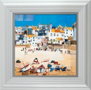 Castles, St Ives Beach  - Framed