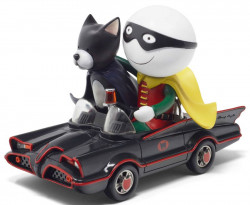 Catman And Robin - Sculpture