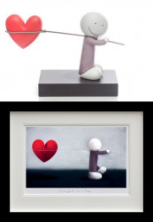 Caught Up In Love - Sculpture & Print Black Framed