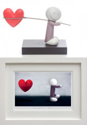 Caught Up In Love - Sculpture & Print Framed