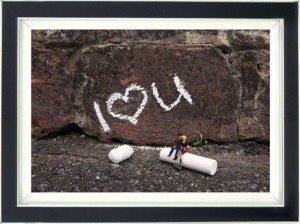 Chalk And Cheese - Dye Sublimation - Framed