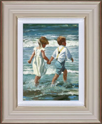 Chasing The Waves - Framed