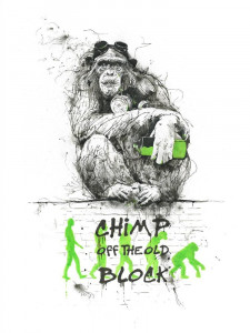Chimp Off The Old Block - Mounted