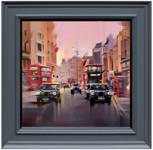 City Streets - Canvas  - Framed