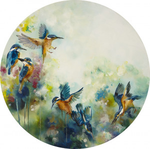 Concentration (Kingfishers) (Small)  - Mounted