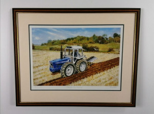 County 1174 Ploughing - Artist Proof - Brown - Framed