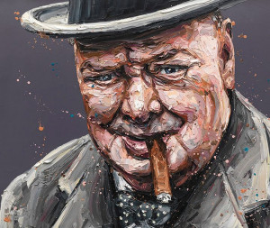 Courage Is A Decision (Churchill) - Artist Proof - Mounted