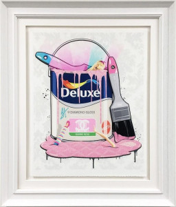 Deluxe Paint Can - Barbie Channel - Artist Proof - Framed