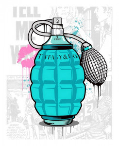 Designer Grenades - Tiffany And Co. Perfume - Artist Proof - Mounted
