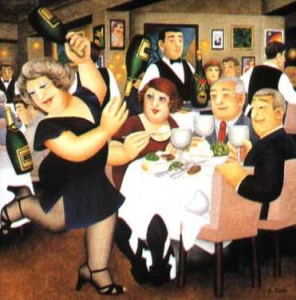 dining out - print