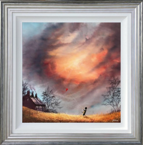 Doens't Time Fly - Canvas  - Framed