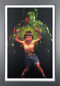 Dr Bruce Banner Is Bathed In The Full Force Of The Mysterious Gamma Rays (Incredible Hulk) - Canvas  - Framed
