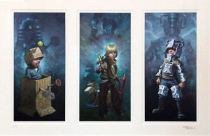 dr. who triptych - mounted
