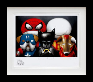 Dream Team! - Remarque Edition -  In Black - Framed
