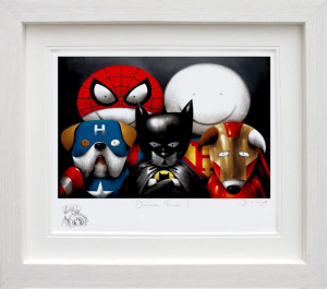 Dream Team! - Remarque Edition -  In White - Framed
