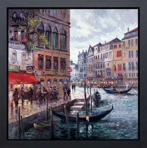 dreaming of venice - framed box canvas