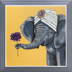 Elephant Parade - Original - Dark Grey - Framed