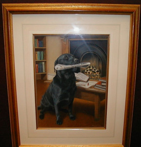 evening delivery - original - framed