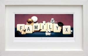 Family - White - Framed