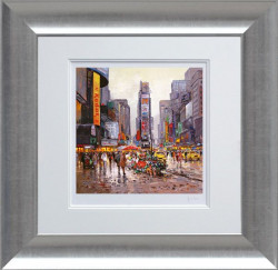 Flower Stall, Manhattan - Framed