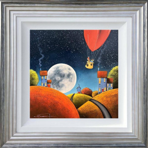 Fly Me To The Moon - Silver - Framed