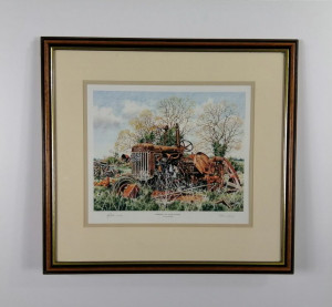 Fordson P6 At Blox Hall - Artist Proof - Brown - Framed
