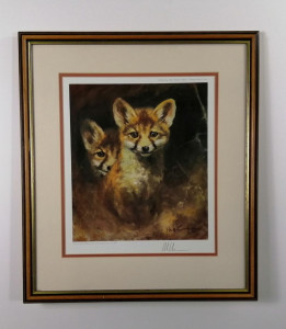 Foxes - Brown - Framed