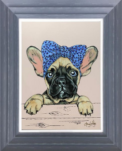 Frenchie - Original - Dark Grey - Framed
